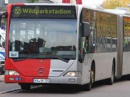 Mit den Shuttle-Bussen der VBK können KSC-Fans schnell und bequem das Wildparkstadion erreichen (Foto: VBK)
