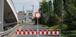 Ludwigshafen Hochstraße Süd Sperrung Auffahrt (Foto: Holger Knecht)
