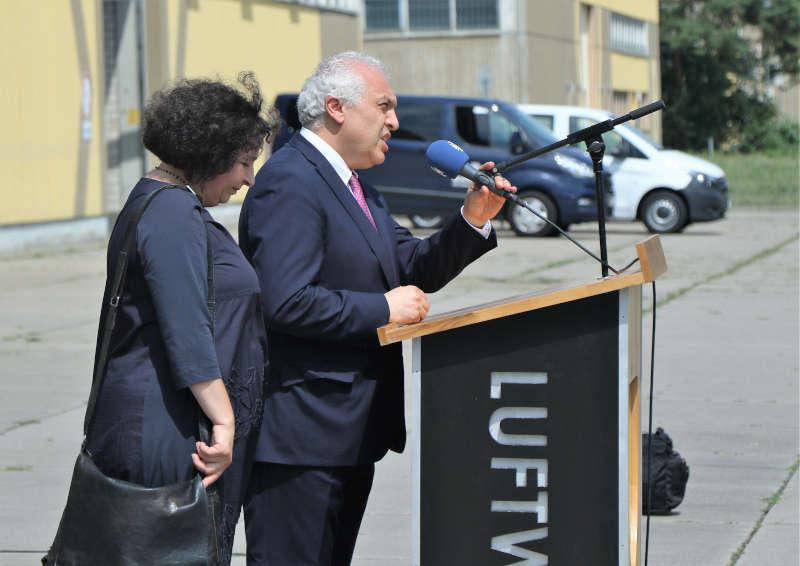 Der Botschafter bei seiner Rede (Foto: Bundeswehr/Frank Wiedemann)