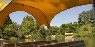 Gondolettas im Luisenpark (Foto: Stadtpark Mannheim gGmbH)