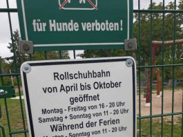 Öffnungszeiten Rollschuhbahn (Foto: Schreiner)