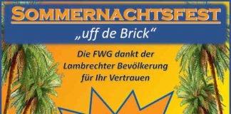 """Plakat """"Uff de Brick"""" (Quelle: FWG Lambrecht)"""
