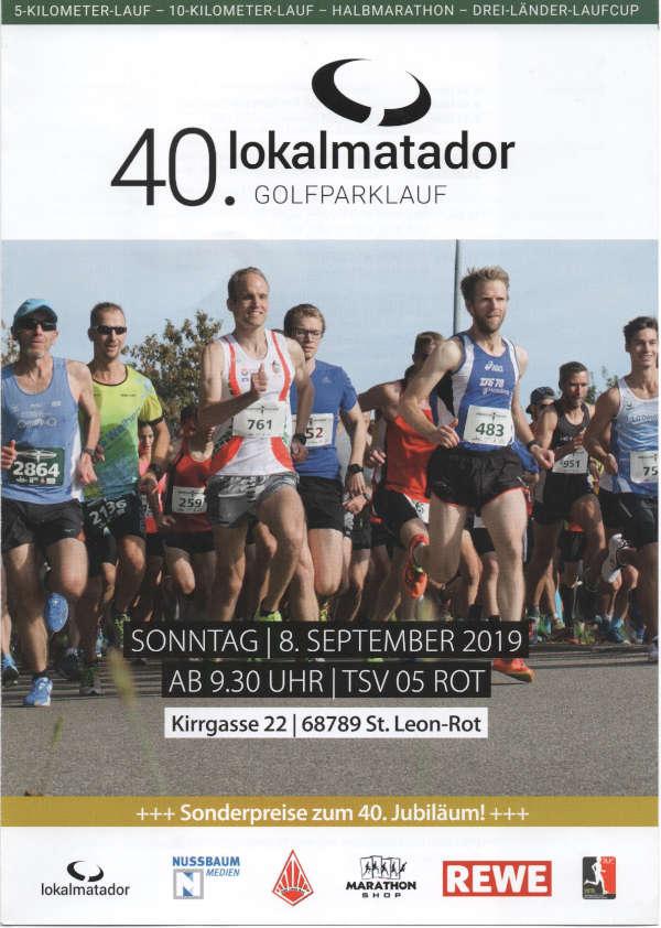 Plakat Lokalmatador-Golfparklauf 2019