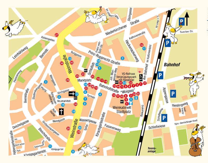 Plan (Quelle: Tourist Service GmbH Deidesheim)