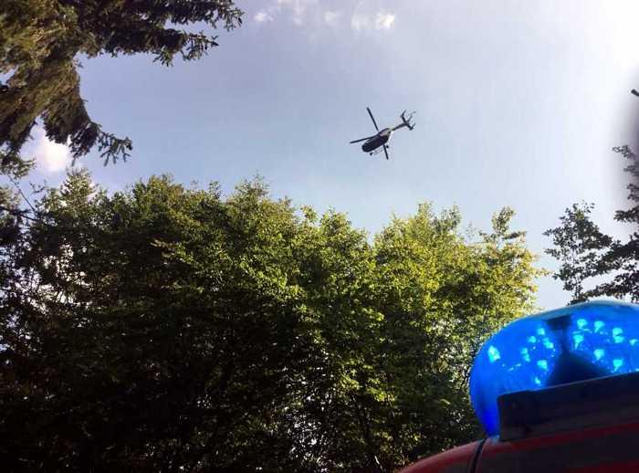 Polizeihubschrauber im Einsatz © Feuerwehr Wiesbaden