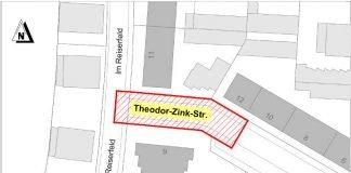 Sperrplan Theodor-Zink-Straße (Quelle: Stadt Kaiserslautern)