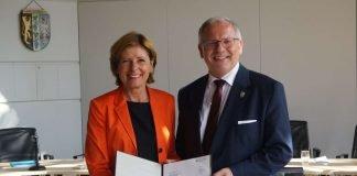 Ministerpräsidentin Malu Dreyer und Landrat Hans-Ulrich Ihlenfeld (Foto: Kreisverwaltung Bad Dürkheim)