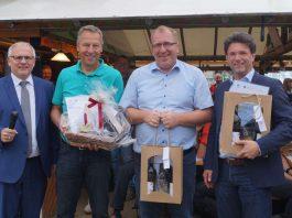 Landrad Hans-Ulrich Ihlenfeld (l.) mit den Bürgermeistern Wagner, Bechtel und Glogger (Foto: Kreisverwaltung Bad Dürkheim)