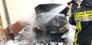 Motorbrand eines PKW (Foto: Feuerwehr Neustadt)