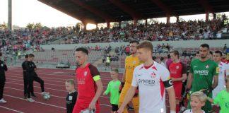 Der 1. FC Kaiserslautern (weiße Trikots) gewann das Pokalspiel gegen Phönix Schifferstadt mit 6:0 (Foto: Michael Sonnick)