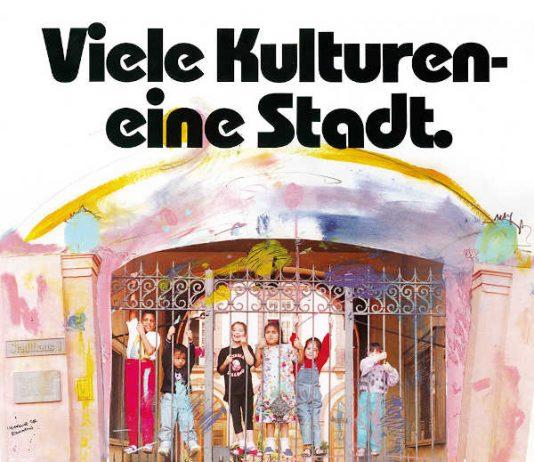 Plakat Viele Kulturen - eine Stadt