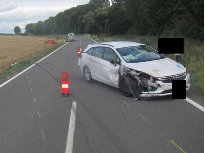 Unfallstelle bei Heimersheim