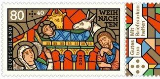 Sonderbriefmarke Weihnachten mit Motiv aus Chartres (Quelle: Stadt Speyer)