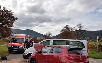 Verkehrsunfall auf der L 516 (Foto: Feuerwehr Neustadt)