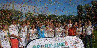 Jubel beim Gewinn des bfv-Verbandspokals (Foto: Hannes Blank)