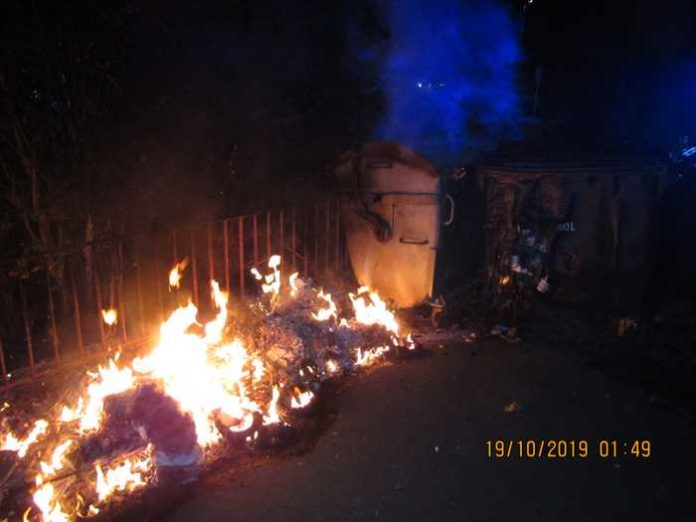 Brandort an der Grundschule