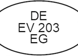 Kennung DE EV 203 EG