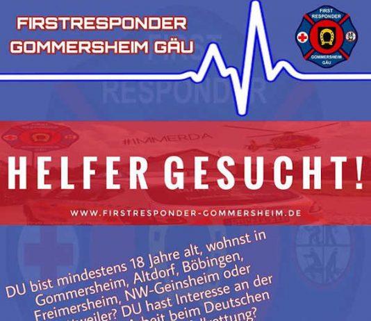 Helfer gesucht (Quelle: DRK Gommersheim)