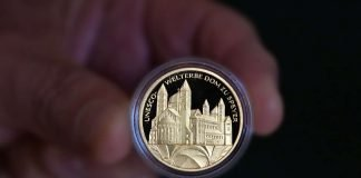 "100-Euro-Goldmünze ""UNESCO-Welterbe Dom zu Speyer"" (Foto: Domkapitel/Klaus Landry)"