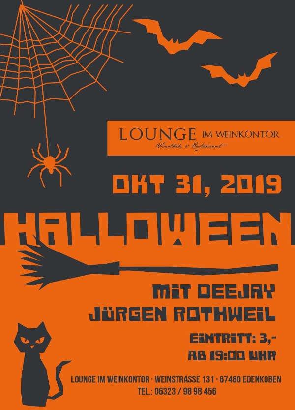 Halloween-Party in der Lounge im Weinkontor Edenkoben