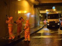 Reinigung des Theatertunnels durch die FES (Foto: ASE Frankfurt)