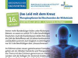 """Vortrag """"Therapieoptionen bei Beschwerden an der Wirbelsäule"""" (Quelle: Hetzelstift Neustadt)"""