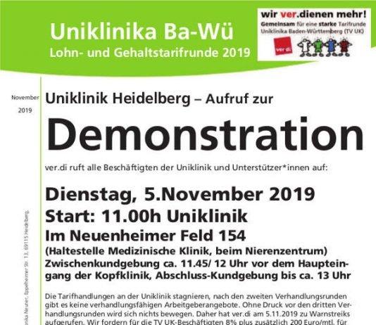 Kundgebung & Demo unter freiem Himmel mit Redebeiträgen von Klinikum-Beschäftigten sowie dem ver.di-Landesleiter Martin Gross als Hauptredner
