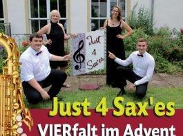 """Konzert des Saxophonquartetts """"Just 4 Sax'es"""""""
