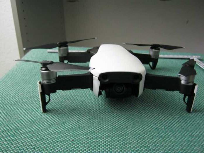 Nach Absturz sichergestellte Drohne