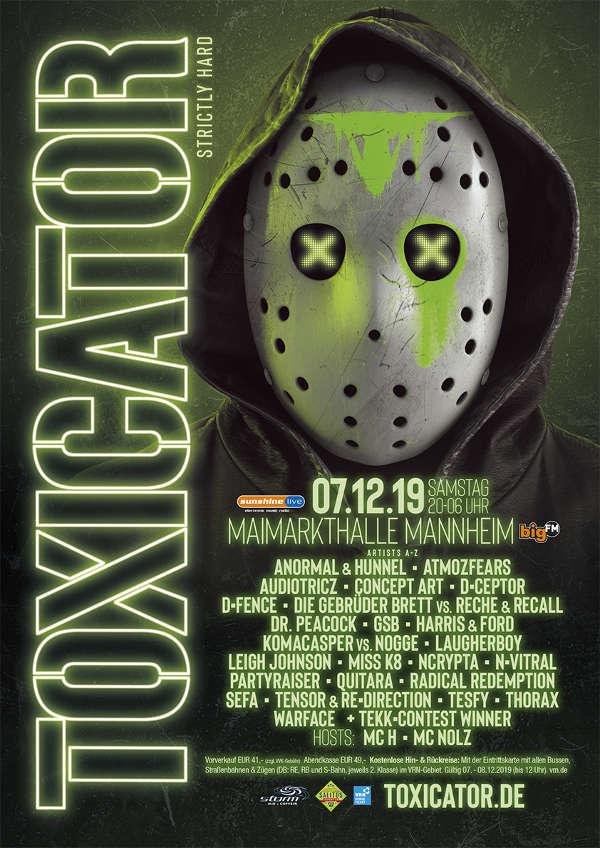 TOXICATOR 2019 - Plakat (Foto: toxicator.de)