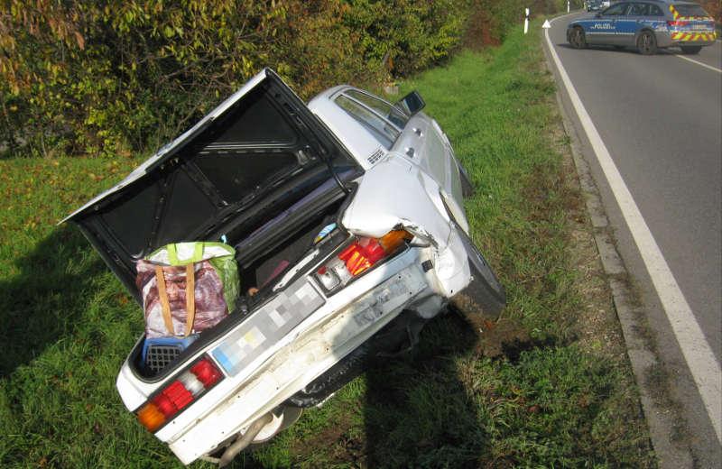 Fahrzeug einer Unfallbeteiligten (Foto: Polizei RLP)