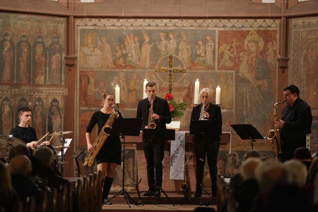 Just 4 Sax'es in der prot Kirche Lambrecht (Foto: Holger Knecht)