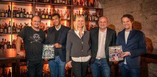 Jens Hasenbein (Gründer Mixology), Stefan Meininger, Andrea Meininger-Apfel, Christoph Meininger, Helmut Adam (Gründer Mixology) (Foto: Ralf Ziegler/Ad Lumina)