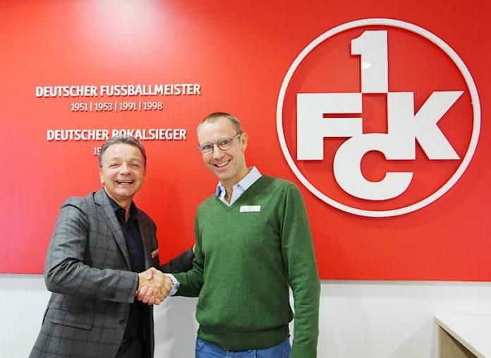 Soeren Oliver Voigt (r.) mit dem FCK-Aufsichtsratsvorsitzenden Rainer Keßler. (Foto: 1. FCK)