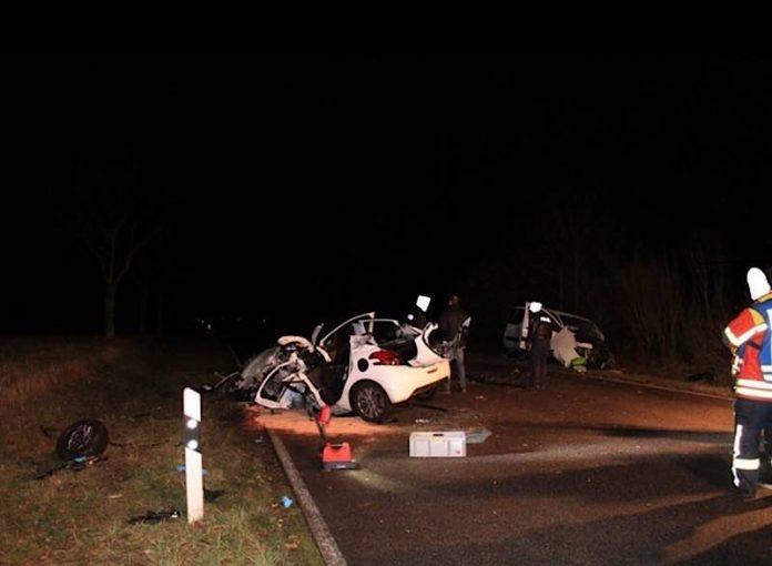Zwei Fahrzeuge waren an dem Unfall beteiligt (Foto: Polizei RLP)