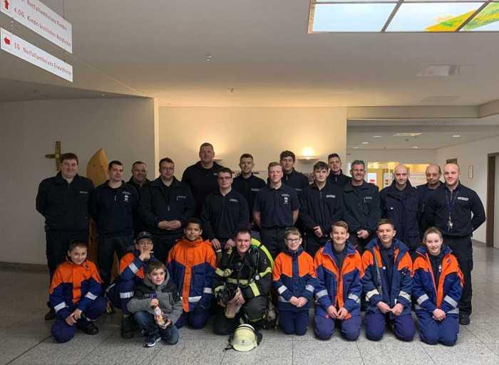 Besuch in der Kinderkrankenstation -2 © Feuerwehr Bad Kreuznach