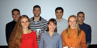 v.l.n.r. (hintere Reihe): Patrick Domogala (MTG Mannheim), Andreas Hofmann (MTG Mannheim), Christoph Kessler (LG Region Karlsruhe), Constantin Preis (VfL Sindelfingen) v.l.n.r. (vordere Reihe): Fabienne Königstein (MTG Mannheim), Carolina Krafzik (VfL Sindelfingen), Jessica-Bianca Wessolly (MTG Mannheim) (Foto: BLV