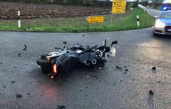 Großfischlingen-Motorradunfall