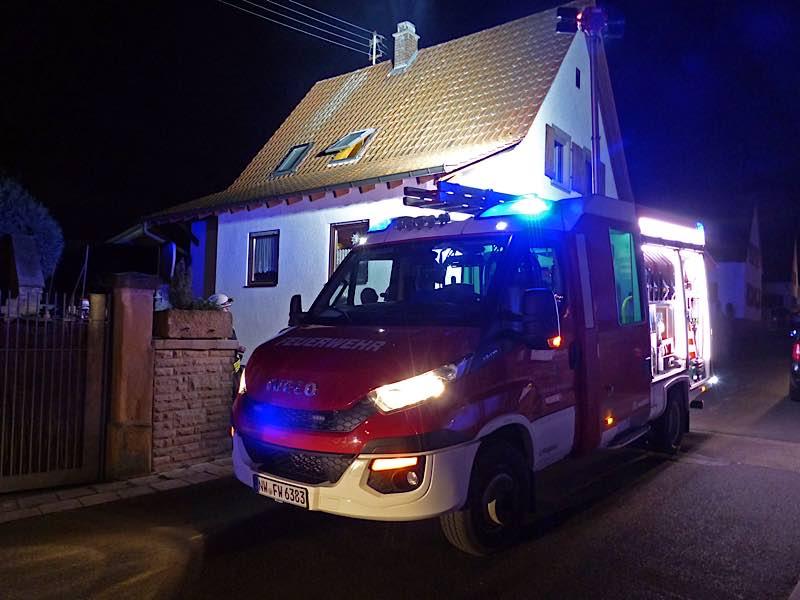 Feuerwehreinsatz im Hirschhornring (Foto: Feuerwehr Neustadt)