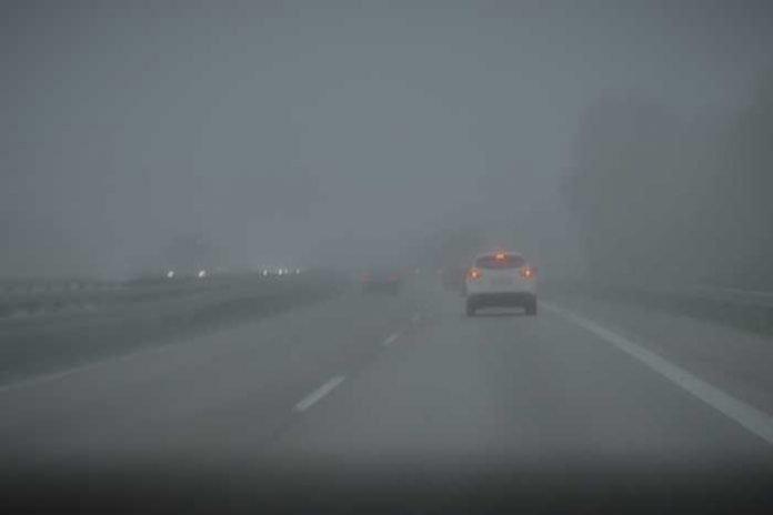 A 45-Linden bei Nebel
