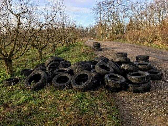 Mainz-Finthen: 120 Autoreifen in der Gemarkung verteilt