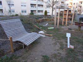 Vandalismus im Naturerlebnispark Georg-Kerschensteiner-Straße