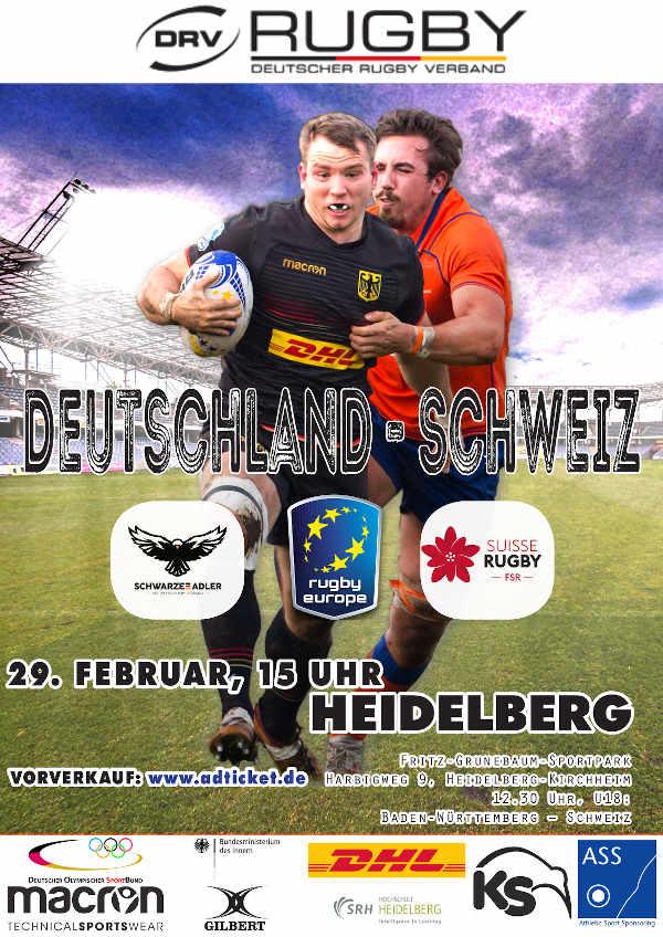 Rugby-Spiel Deutschland - Schweiz in Heidelberg (Foto: DRV)