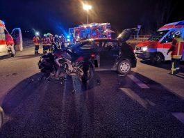Die Unfallstelle auf der B271 (Foto: Polizei RLP)