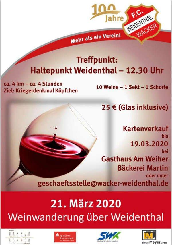 Wacker-Weinwanderung über Weidenthal