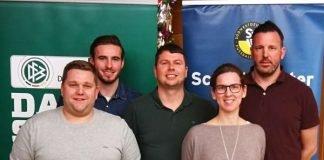 Der neue Kreis-Schiedsrichter-Ausschuss Rhein-Pfalz: Sven Tritt, Tom Bauer, Jens Schmidt, Nicole Maurer und Daniel Heil (von links) – Adrian Kokott war verhindert. (Foto: SWFV)