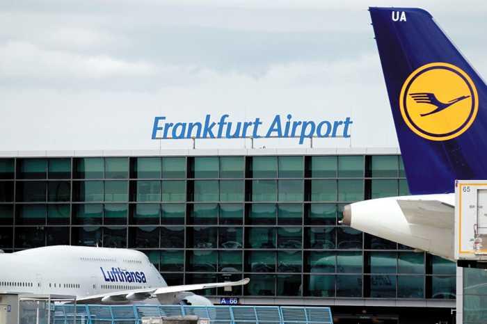 Symbolbild, Frankfurt, Flughafen, Schriftzug auf Dach © Fraport AG