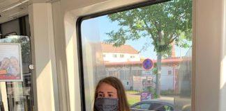 Maske tragen, Verantwortung tragen: Ab dem 27. April 2020 gilt auch in den öffentlichen Ver- kehrsmitteln im KVV-Verbundgebiet eine Maskenpflicht (Foto: KVV)