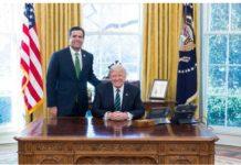 John Ratcliffe und Donald Trump - Screenshot Webseite John Ratcliffe