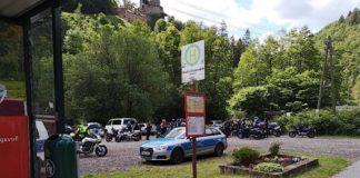 Motorradkontrollen in Erfenstein (Foto: Polizei RLP)